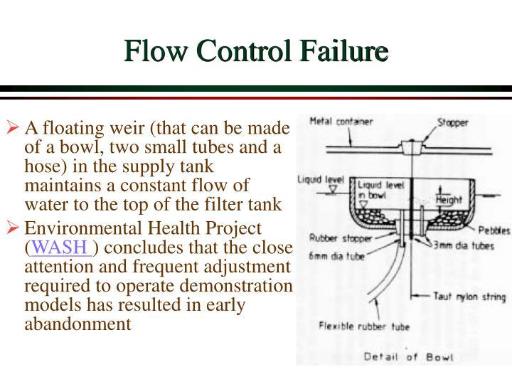 Flow Control Failure