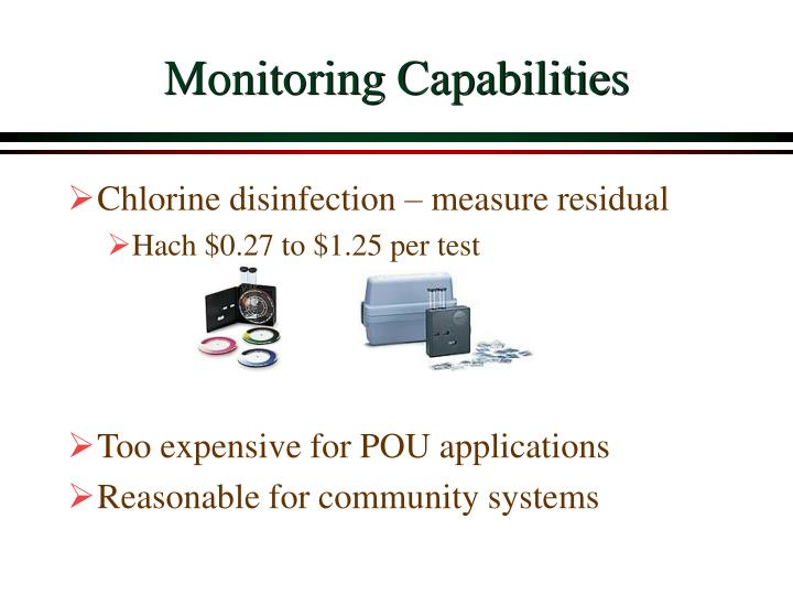 Monitoring Capabilities