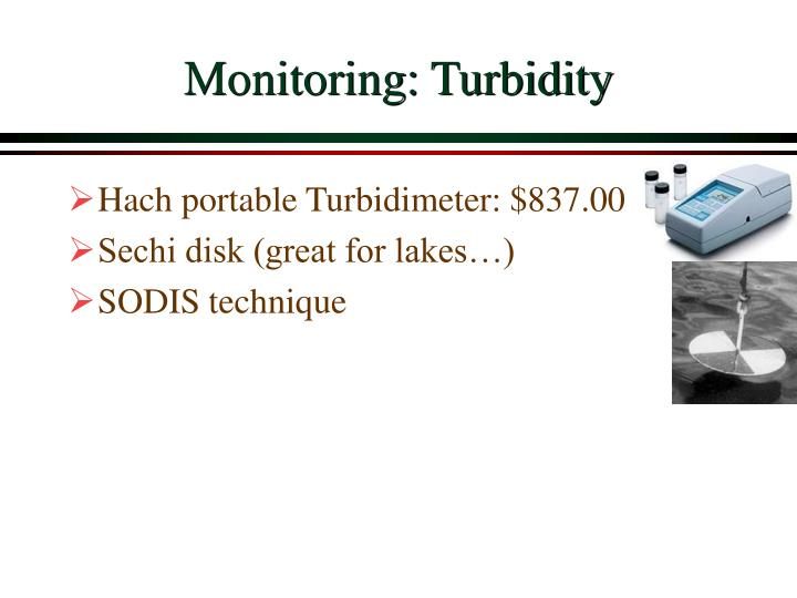 Monitoring: Turbidity