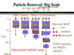 particle removal big scale