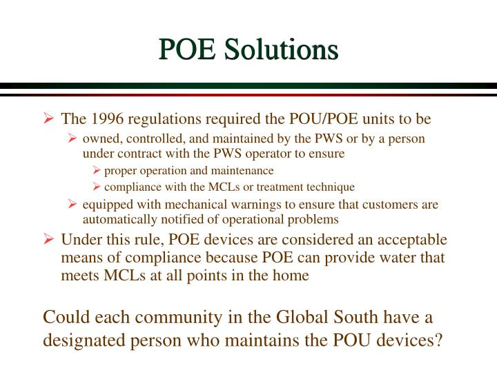 POE Solutions