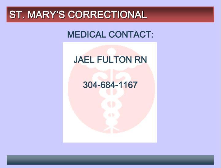 ST. MARY'S CORRECTIONAL