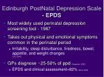edinburgh postnatal depression scale epds