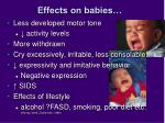 effects on babies