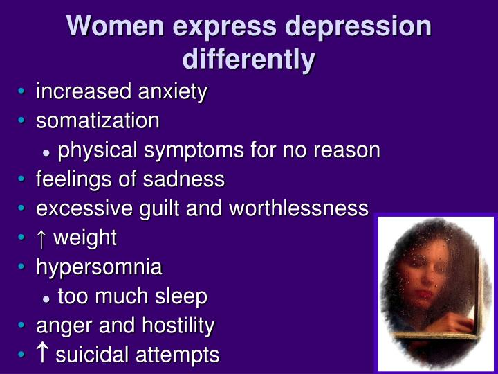 Women express depression differently