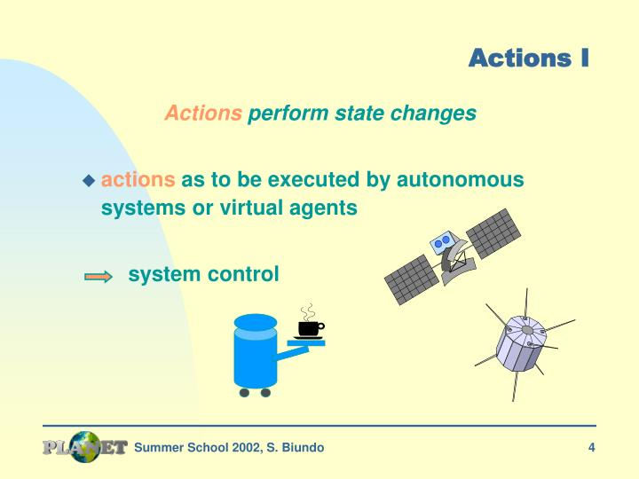 Actions I