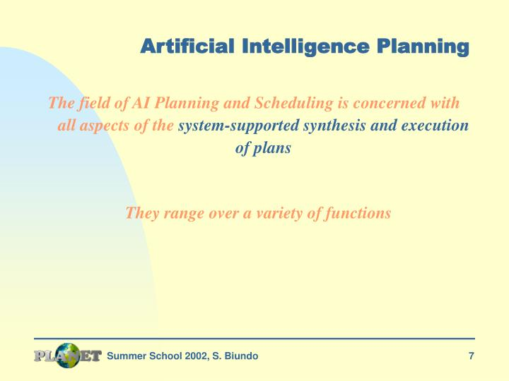 Artificial Intelligence Planning