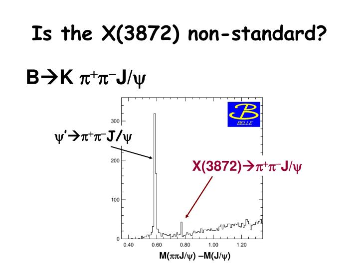 Is the X(3872) non-standard?