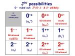 j pc possibilities 0 ruled out j p 0 1 2 unlikely