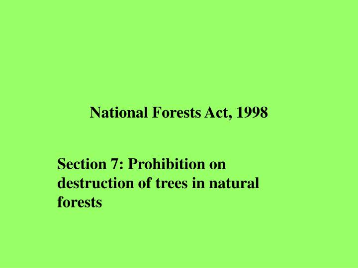 National Forests Act, 1998