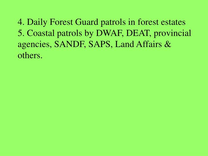 4. Daily Forest Guard patrols in forest estates