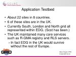 application testbed