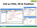 call av pou fb funktion