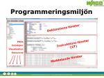 programmeringsmilj n