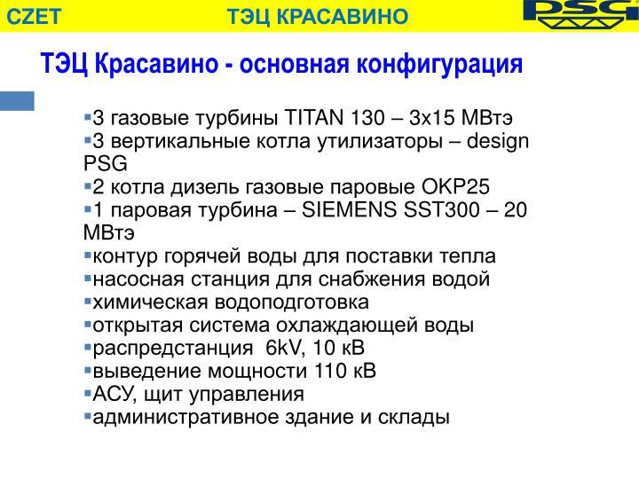 ТЭЦ Красавино - основная конфигурация