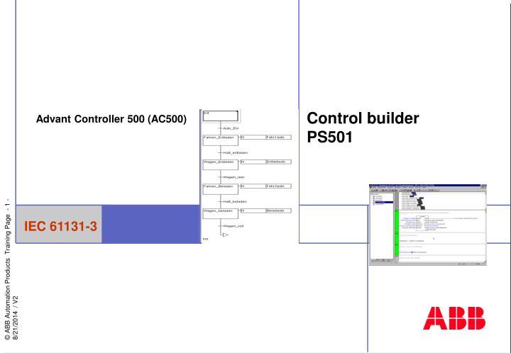 control builder ps501