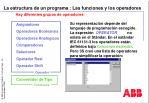la estructura de un programa las funciones y los operadores