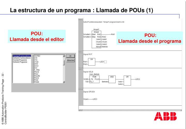 La estructura de un programa : Llamada de POUs (1)