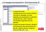los lenguajes de programaci n texto estructurado st