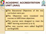 academic accreditation unit aau1