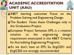 academic accreditation unit aau2