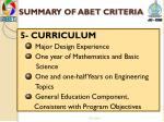 summary of abet criteria4