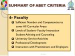 summary of abet criteria5