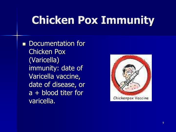 Chicken Pox Immunity