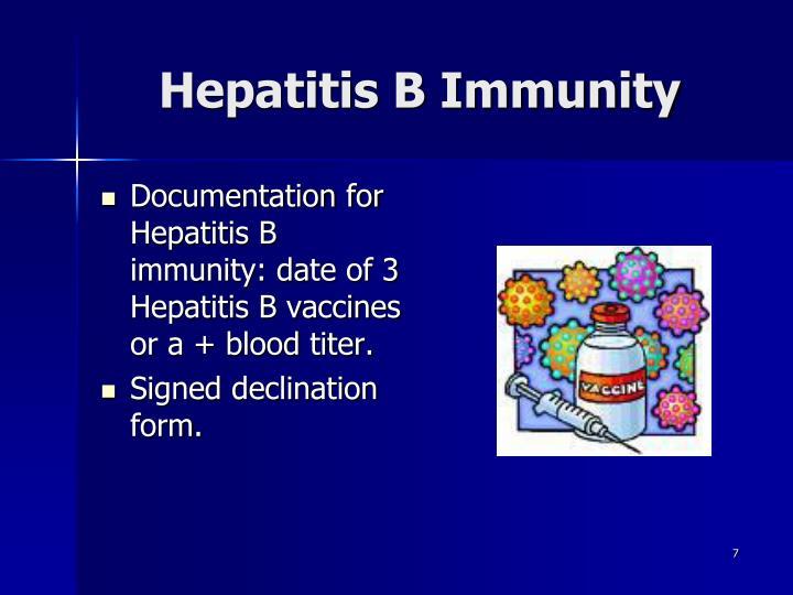 Hepatitis B Immunity