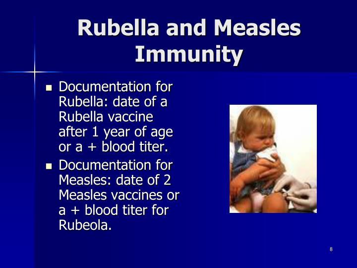 Rubella and Measles Immunity