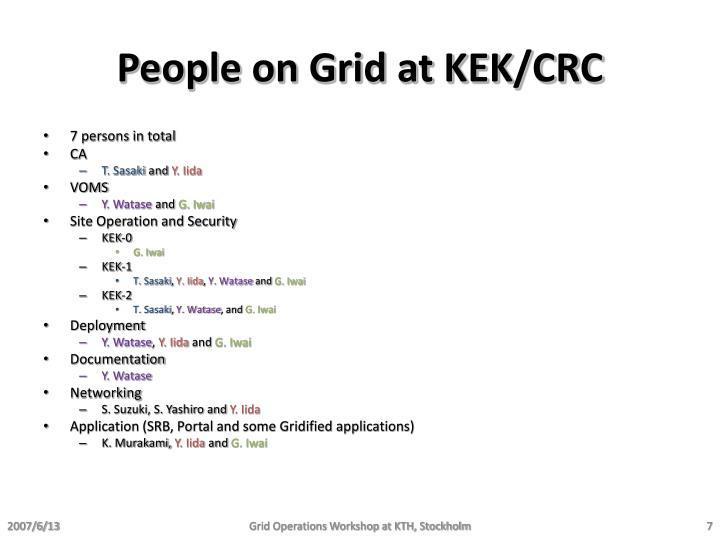 People on Grid at KEK/CRC