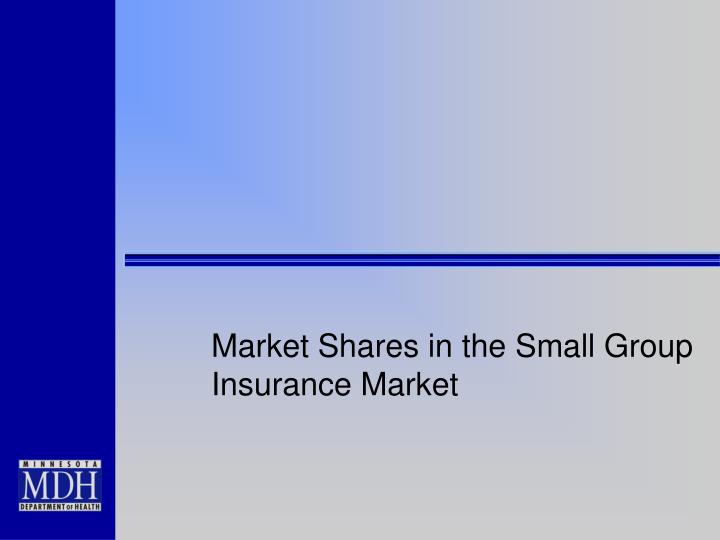 Market Shares in the Small Group Insurance Market