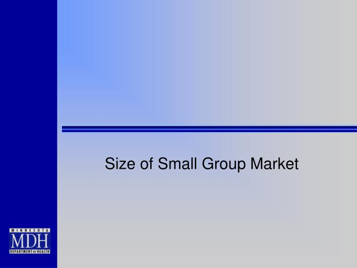 Size of Small Group Market