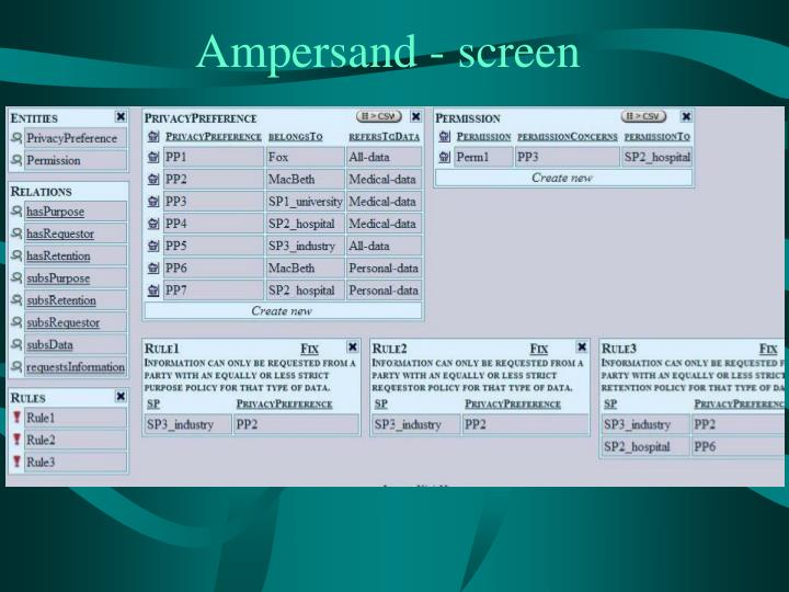 Ampersand - screen