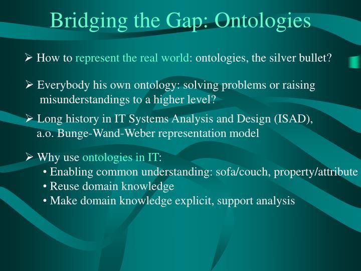 Bridging the Gap: Ontologies