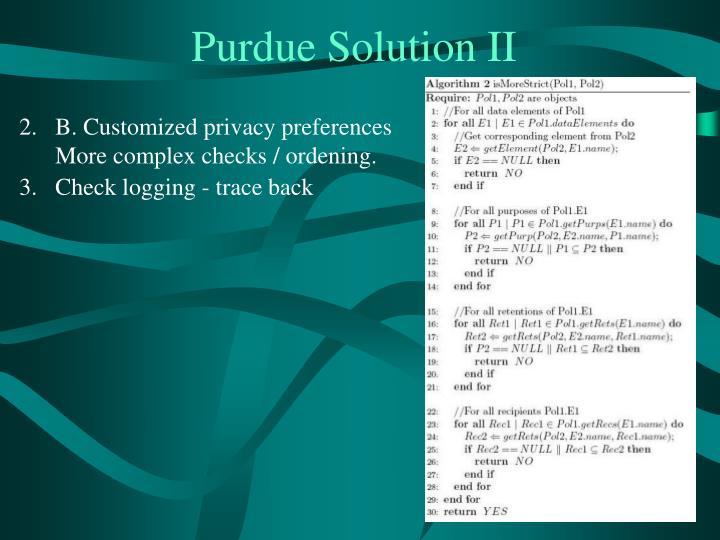 Purdue Solution II