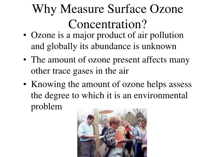 Why Measure Surface Ozone Concentration?