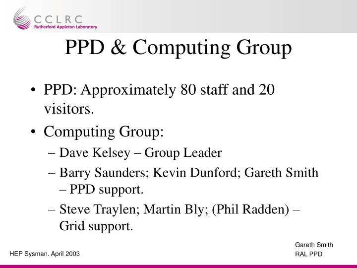 PPD & Computing Group