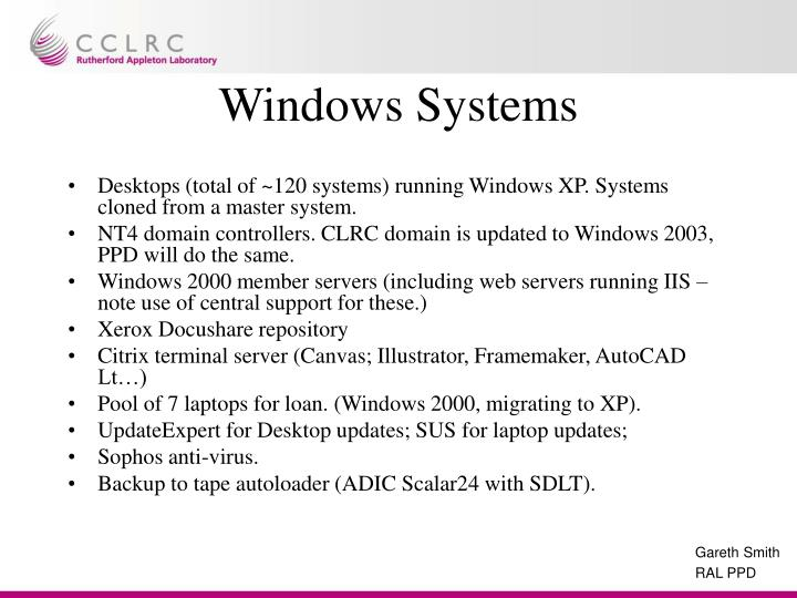 Windows Systems