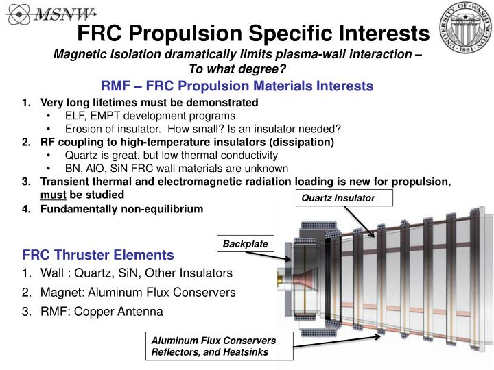 FRC Propulsion Specific Interests