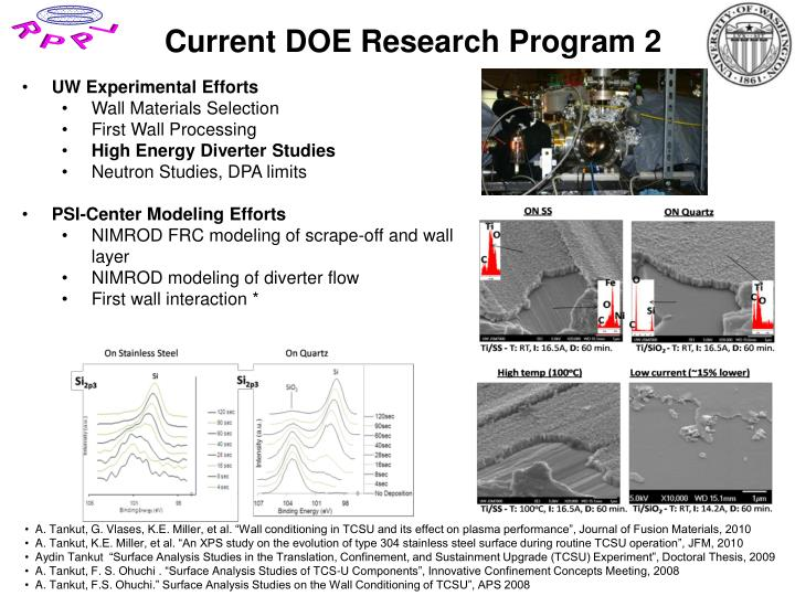 Current DOE Research Program 2
