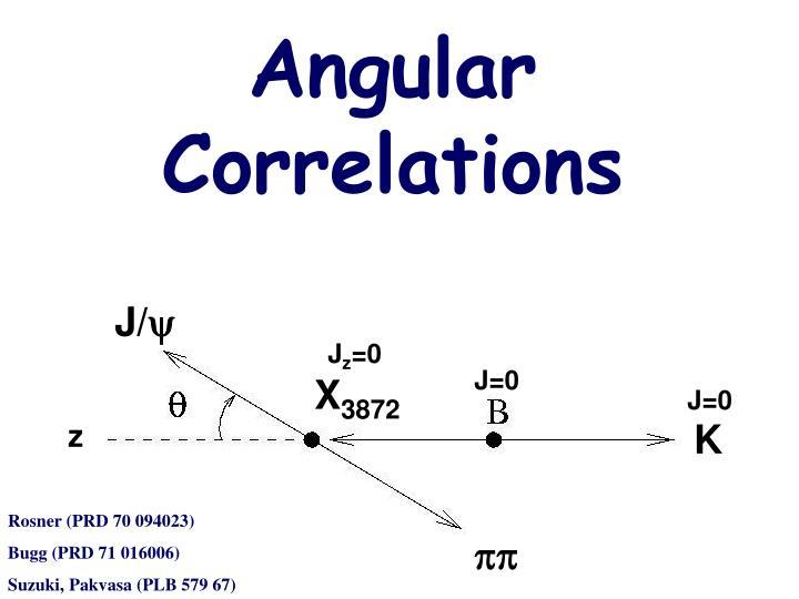 Angular Correlations