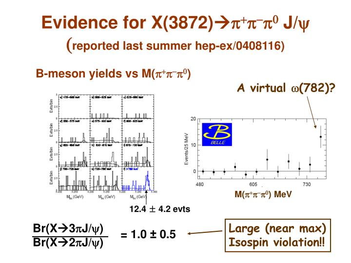 Evidence for X(3872)