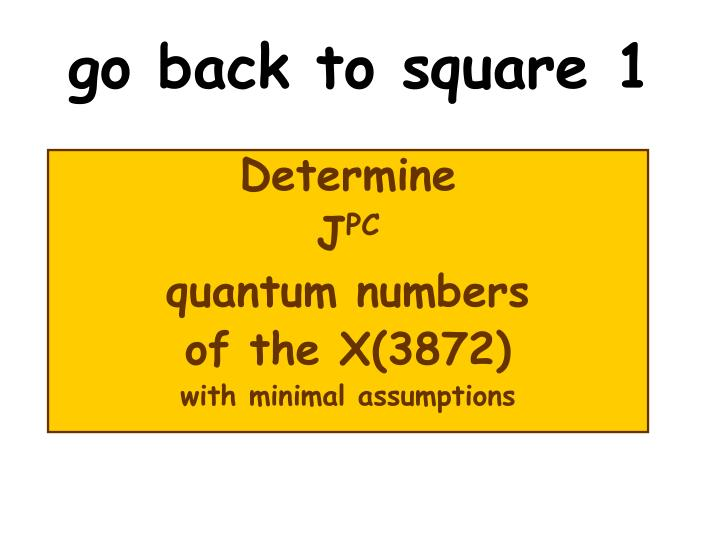 go back to square 1