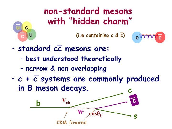 non-standard mesons