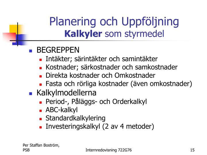 Planering och Uppföljning