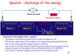 quench discharge of the energy