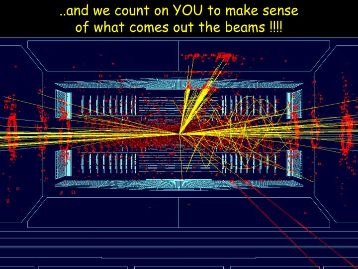 ..and we count on YOU to make sense