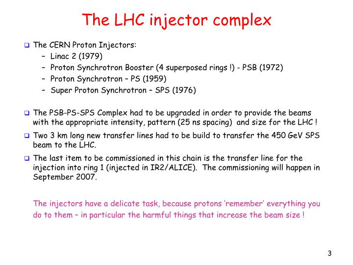 The LHC injector complex