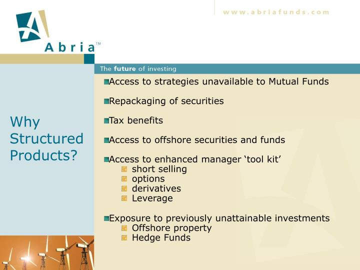 Why Structured Products?